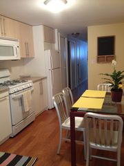 Brooklyn apartment photo - Full Kitchen with new appliances (dishwasher, microwave, stove, coffee maker)