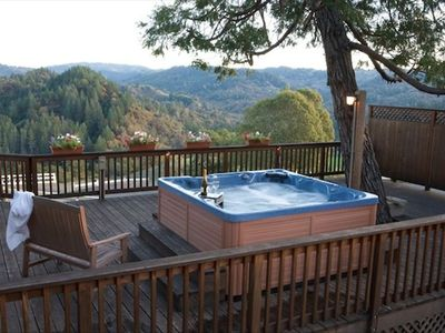 The Seven Person Hot Tub - with views for miles.