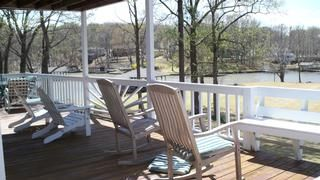 main floor deck with lake view