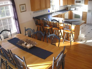 Large open kitchen, comfortably seats 12