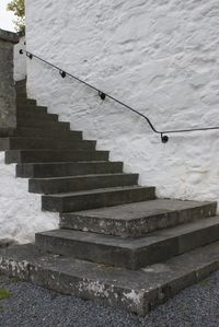 The outside stairs