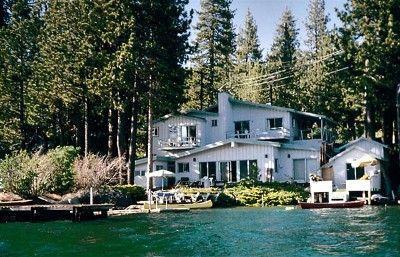 Donner Lake house rental - View of House from the Lake