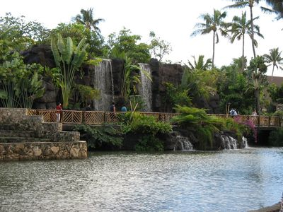 We are walking distance from the Polynesian Cultural Center