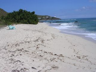 St. Croix house photo - Sandy beach looking east