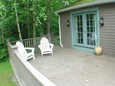 The deck outside the master bedroom