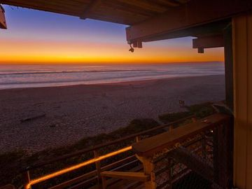 La Selva Beach townhome rental - Sunset from Lower Deck