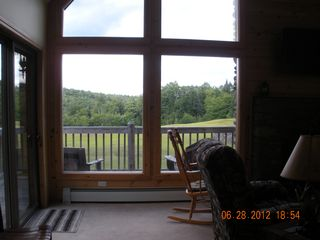 Pittsburg chalet photo - looking out living rm windows