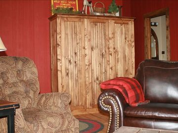Laramie cabin rental - Sitting area near kitchen.