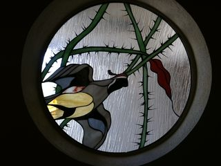 Stained glass in front door