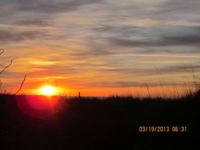 Windy Hill house rental - Sunrise over the Atlantic Ocean and dunes