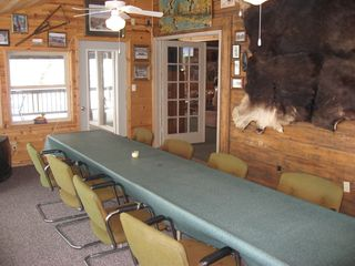 Linwood lodge photo - Sunroom,enjoy the view, play games, read a book. Table seats 12