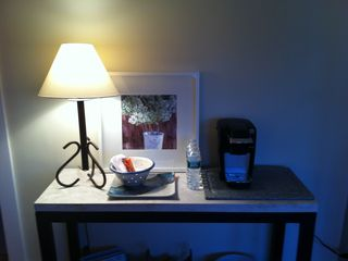 Marblehead apartment photo - Keurig and mini frigerator.