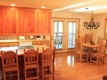 Convenient kitchen and adjacent dining area.
