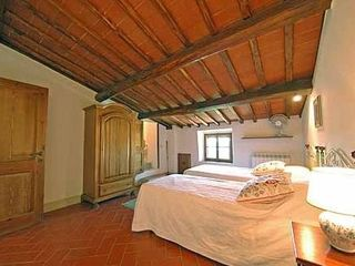 Gaiole in Chianti villa photo - Bedroom with twin beds in 3rd floor. Great views