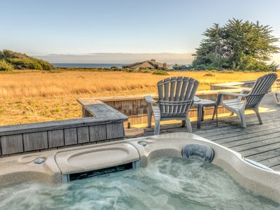 Sea Ranch house rental - View from the hot tub and deck