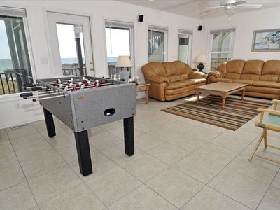 Lower Floor Living Room with Foosball, TV etc
