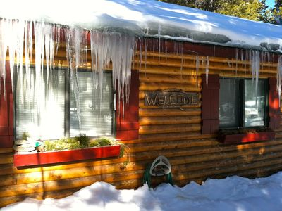 Black Hawk cabin rental - A snowy day in February!
