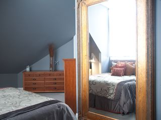 Brooklyn house photo - Master Bedroom - Floor to ceiling mirror