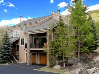 Summer foliage with that BLUE Colorado sky! - Keystone townhome vacation rental photo