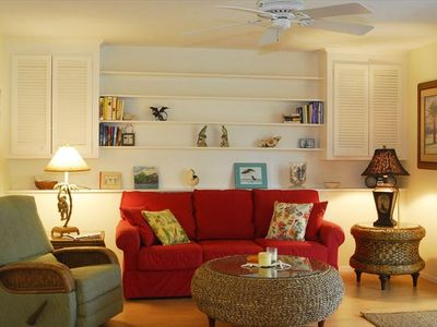 Comfortable, colorful furnishings welcome you to your vacation retreat