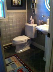 Orleans house photo - half bath. plus an outdoor shower - a Cape Cod tradition