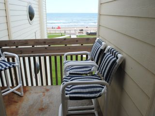 South Padre Island condo photo - Balcony furniture