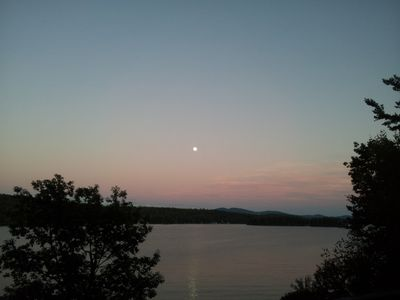 Moonrise from deck