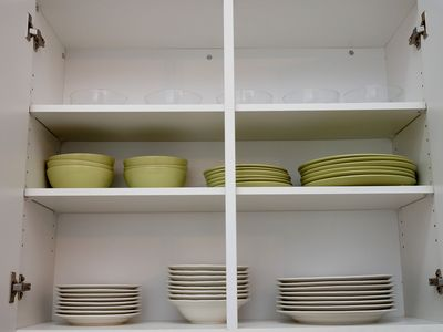 Dishes and silverware in the kitchen