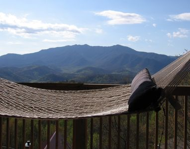 Gatlinburg cabin rental - Hammock view overlooking Mt. Leconte