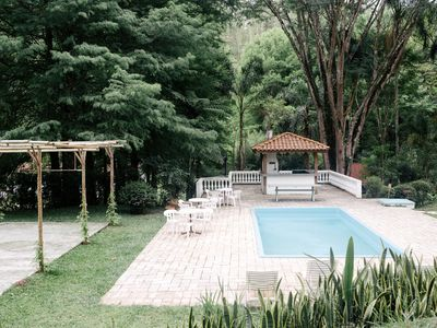 rustic-chic site. Pool, barbecue, sauna & networks only 1 hr SP !!