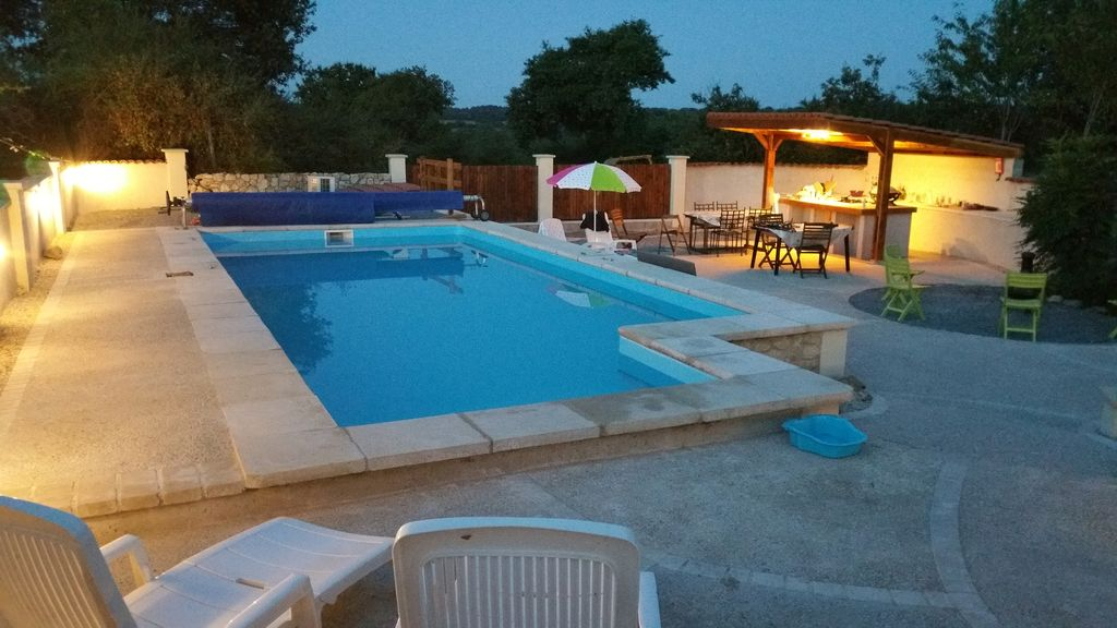 Secluded 3 bed house with heated swimming vrbo for Heated garden swimming pools