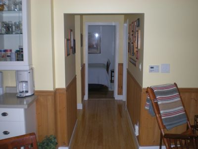 Hallway to bedrooms, loft, laundry and half bath