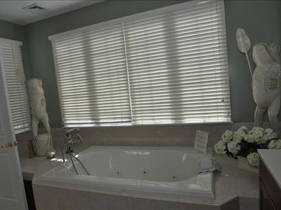 master bath very large with jacuzzi tub and ocean views