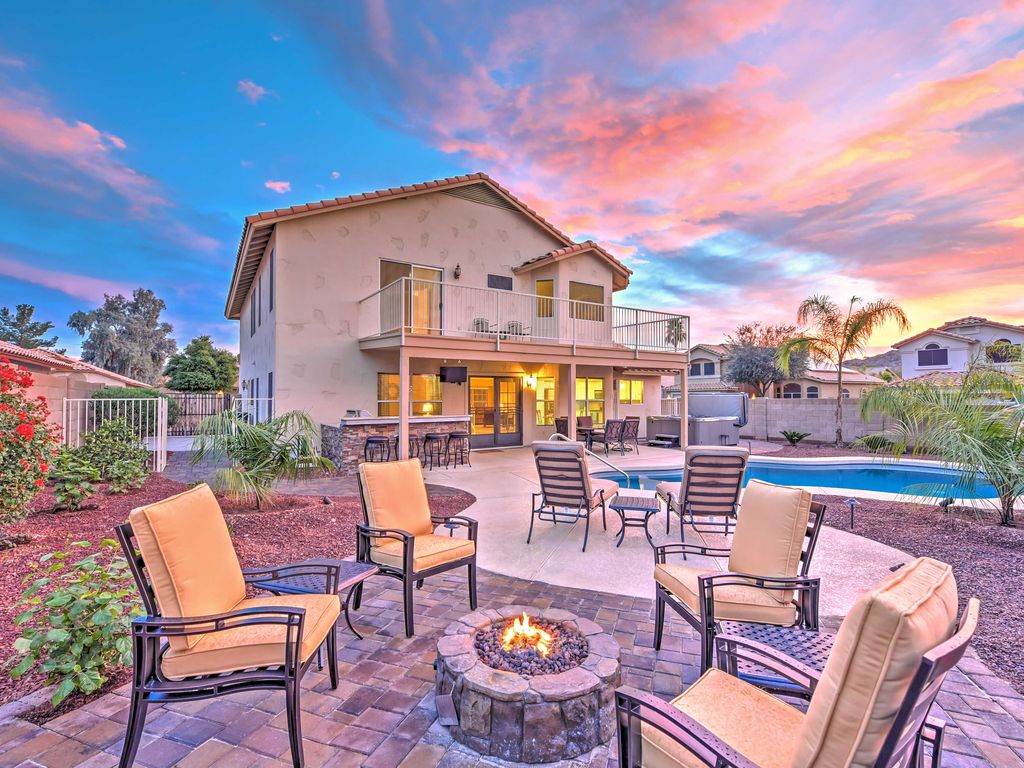 New 4br goodyear home w private hot tub vrbo for Az cabin rentals with hot tub