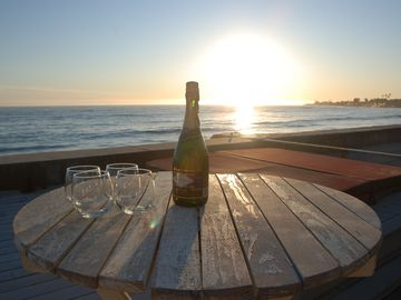 Ventura house rental - Champagne is a must with a sunset like this!