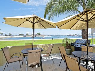 Mission Beach condo photo - Fully furnished, shared patio with BBQ