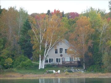View of the house from the water before the carriage house was built to the left