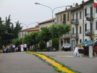 Penna in Teverina villa photo - June Corpus Christi procession over a bed of flowers in village of Penna