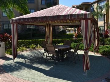 Cabana available poolside for a break from the sun!