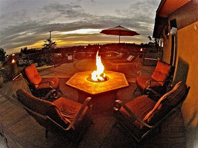 Fire pit deck facing the ocean, Watch fire work or beautiful sunsets