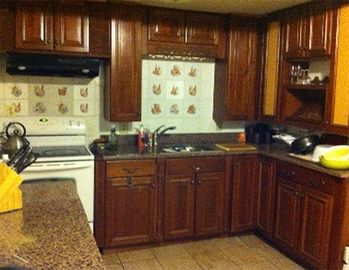 Marble Floors, Granite Counters, Cherry Cabinets. Automatic fridge (ice/h2o)