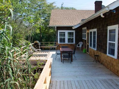 Deck and side entrance.