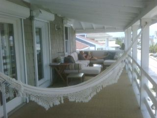 Hammock and sitting area to enjoy the view
