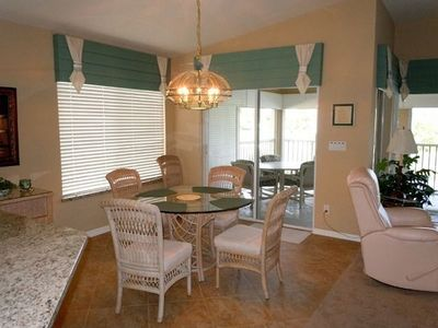 Tiled dining area and lanai.