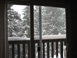 Mammoth Lakes condo photo - Winter View from the deck