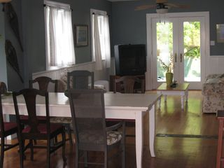 Three Oaks house photo - Dining area that seats 8 plus a breakfast bar to the right.