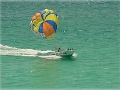 Watercrest condo rental - Parasailing as seen from the balcony