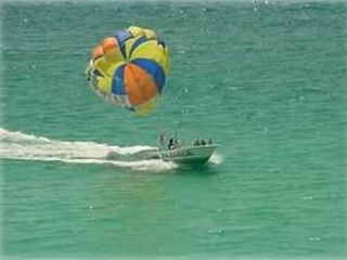 Parasailing as seen from the balcony