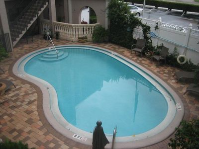 Pool in interior courtyard