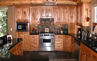 Gas range and stainless steel appliances